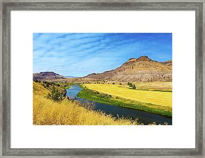 John Day River Panoramic View Framed Print