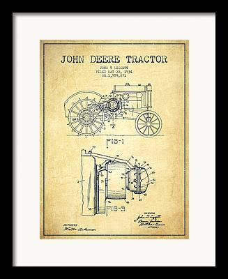 Technical Illustration Drawings Framed Prints