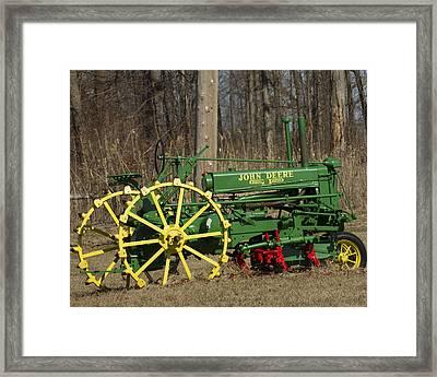 John Deer Tractor Framed Print