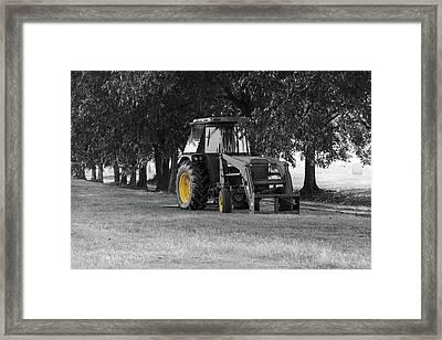 John Deere 620 In Selective Color Framed Print