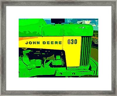 John Deere 630 Framed Print by John Gerstner