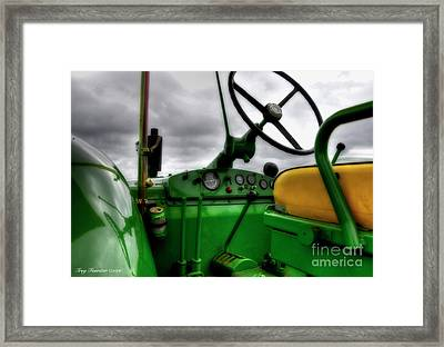 Framed Print featuring the photograph John Deere 830 Dash by Trey Foerster