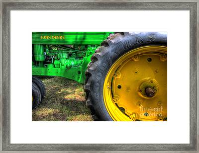 John Deere And Goodyear Framed Print
