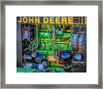 John Deere Engine Framed Print