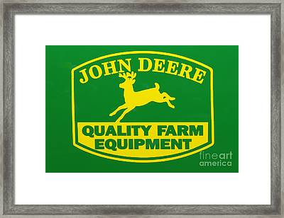 John Deere Farm Equipment Sign Framed Print