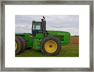 Framed Print featuring the photograph John Deere Green 3159 by Guy Whiteley