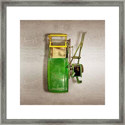John Deere Harvester Top Framed Print by YoPedro
