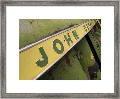 John Deere Framed Print by Jeffery Ball
