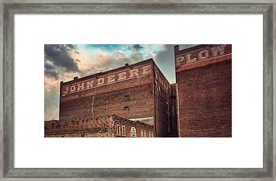 John Deere Plow Framed Print by Thomas Zimmerman