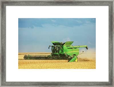 John Deere S690 Framed Print by Todd Klassy