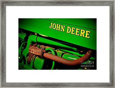 John Deere Tractor Mystery Framed Print by Olivier Le Queinec