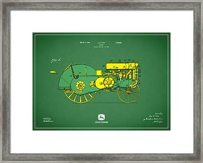 John Deere Tractor Patent Framed Print