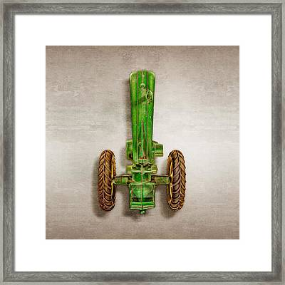 John Deere Tractor Top Framed Print by YoPedro