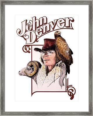 John Denver Eagle Framed Print by John D Benson