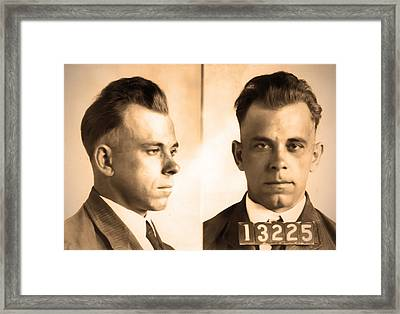 John Dillinger - Public Enemy Framed Print by Bill Cannon
