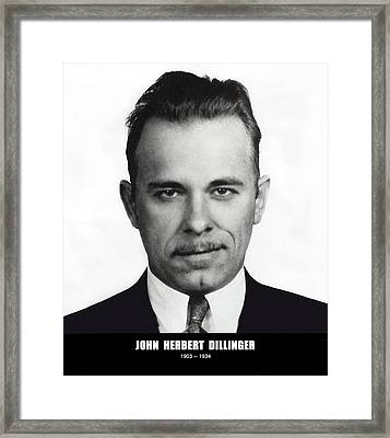 John Dillinger - Bank Robber And Gang Leader Framed Print by Daniel Hagerman