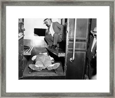 John Dillinger, Dead With Toes Framed Print