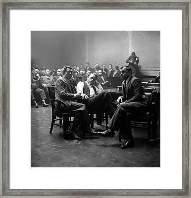 John Dillinger In Court 1934 Framed Print