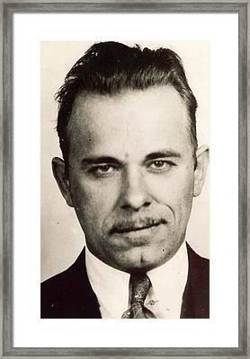 John Dillinger Mug Shot Sepia Framed Print