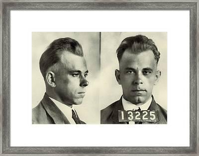 John Dillinger Mugshot Framed Print