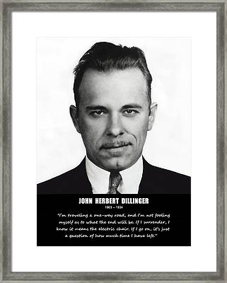 John Dillinger -- Public Enemy No. 1 Framed Print