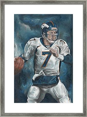 John Elway Framed Print by David Courson