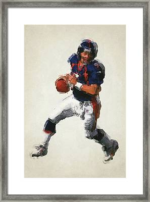 John Elway Denver Broncos Art 2 Framed Print