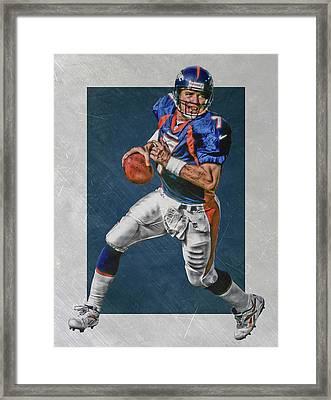 John Elway Denver Broncos Art Framed Print by Joe Hamilton