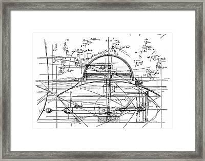 John Ericsson's Sketch For Turret Ship, 1890 Framed Print