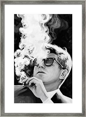 John F. Kennedy Artwork 1 Framed Print by Sheraz A
