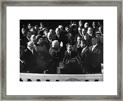 John F. Kennedy Framed Print by Granger