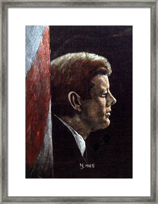 John F. Kennedy Framed Print by Norman F Jackson