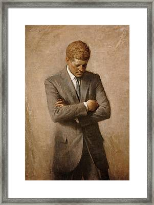 John F Kennedy Framed Print by War Is Hell Store