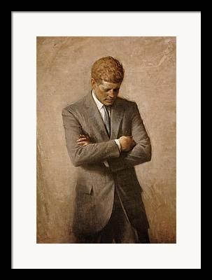 John F. Kennedy Framed Prints