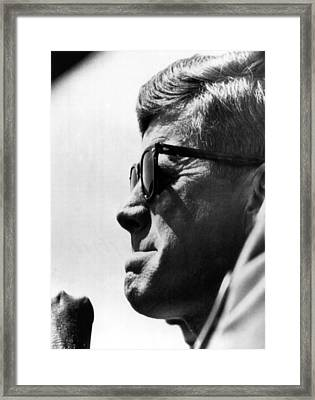 John F. Kennedy, Watches Framed Print