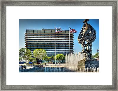 John Ferraro Building Ladwp  Framed Print by David Zanzinger