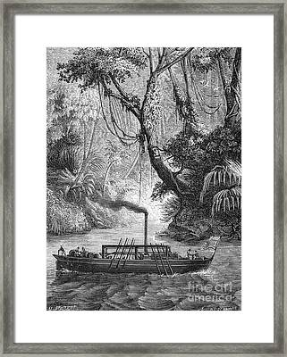 John Fitch Steamboat Framed Print by Granger