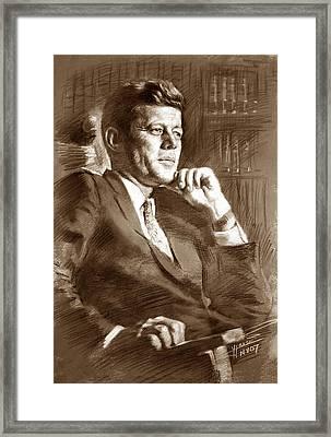 John Fitzgerald Kennedy Framed Print by Ylli Haruni