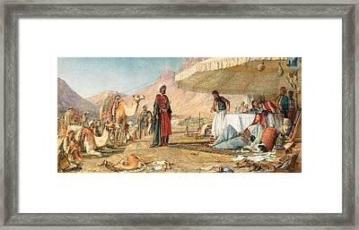Framed Print featuring the photograph John Frederick Lewis Mount Sinai 1842 by Munir Alawi