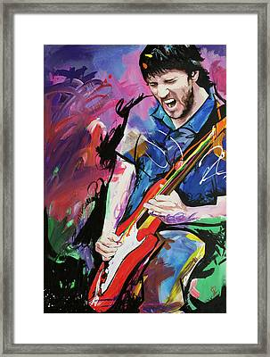 John Frusciante Framed Print by Richard Day