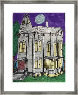 John Henes Home. Framed Print