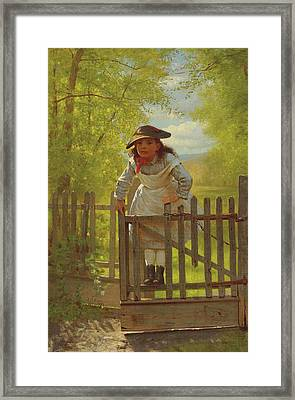 John George Brown The Tomboy 1873 Framed Print by Movie Poster Prints