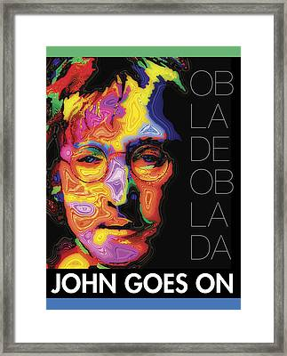 John Goes On Framed Print by Stephen Anderson