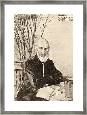 John Greenleaf Whittier 1807-1892 Framed Print by Vintage Design Pics