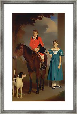 John Gubbins Newton And His Sister Mary Newton Framed Print by Mountain Dreams
