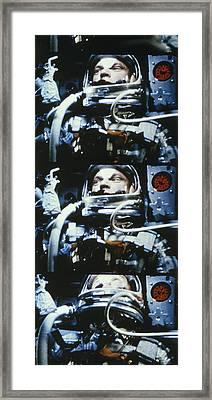 John H. Glenn, Jr. Circling Earth, 5 Framed Print