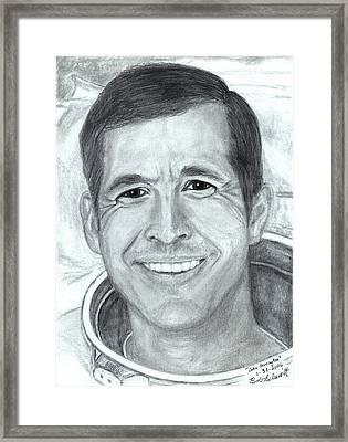 John Herrington 1st Native American Astronaut Framed Print by Bob Schmidt