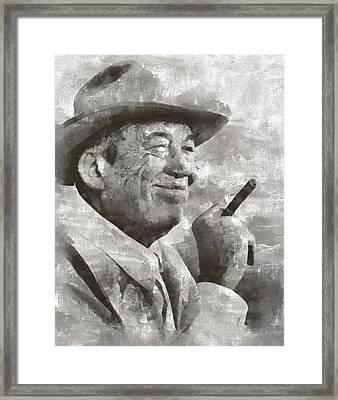 John Huston, Film Director Framed Print by Mary Bassett