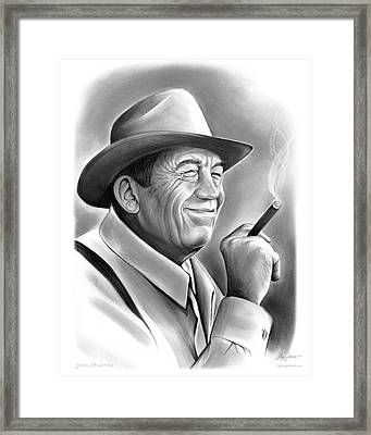 John Huston Framed Print by Greg Joens