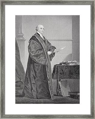 John Jay 1745 - 1829. U.s. Jurist And Framed Print by Vintage Design Pics